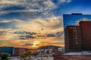 sioux city downtown sunset image